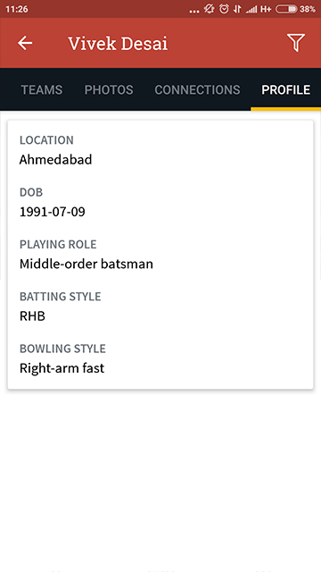 Your Cricket Profile