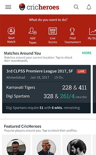 cricheroes - Home Screen