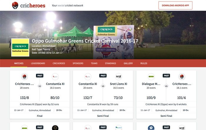 Get a dedicated tournament page for all your tournament matches with your own branding (Tournament banner and logo).